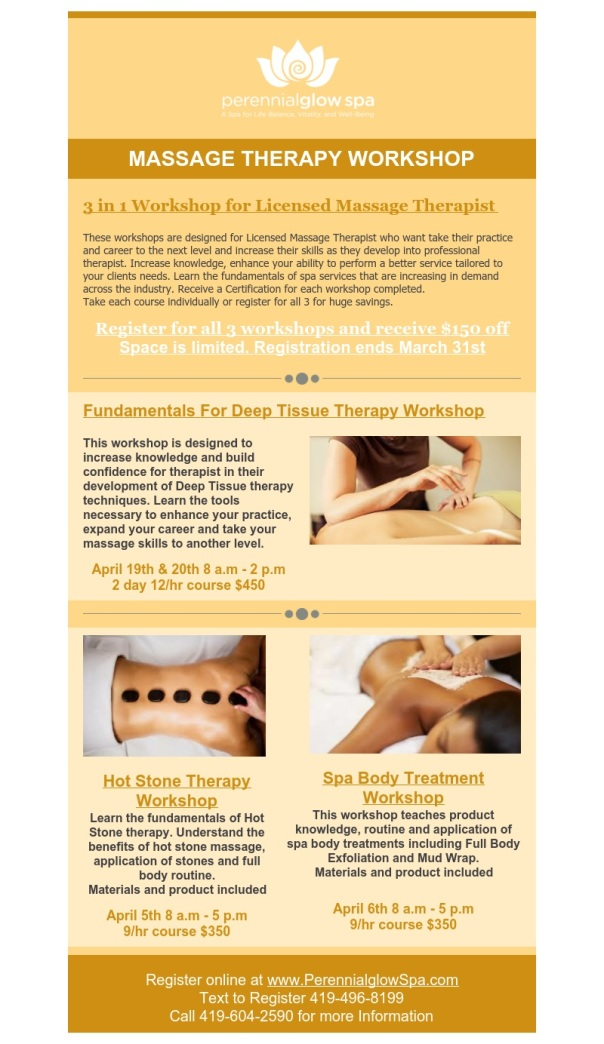 Massage Therapist Workshop